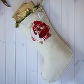 Personalised Stocking With Robin - christmas decorations