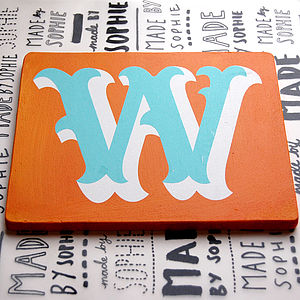 Seconds Letter W Screen Printed Wooden Block