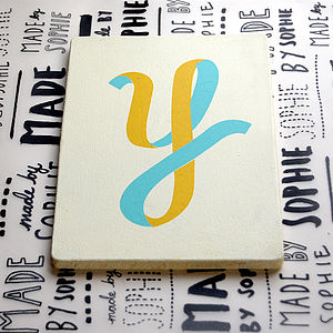Seconds Letter Y Screen Printed Wooden Block