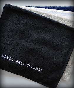 Personalised Golf Towel - gifts under £15