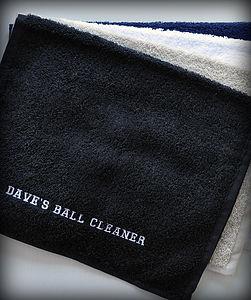 Personalised Golf Towel - handkerchiefs