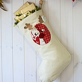 Personalised Stocking With Rudolph - christmas decorations