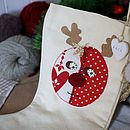 Personalised Stocking With Rudolph