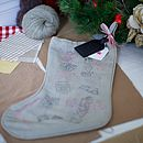 Personalised Santa's Passport Stocking