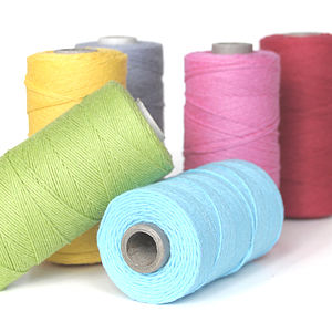 Coloured Cotton Twine - sewing & knitting