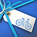 Set Of Five Bicycle Gift Tags
