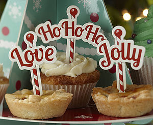 Christmas Mince Pie Or Cupcake Decorations - christmas parties & entertaining