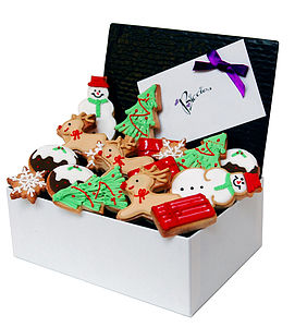 Christmas Biscuit Festive Box - cakes & sweet treats