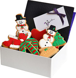 Christmas Biscuit Box - biscuits