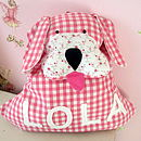 Personalised Gingham Dog Backpack