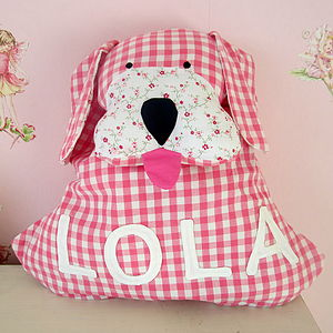 Personalised Gingham Dog Backpack - children's accessories