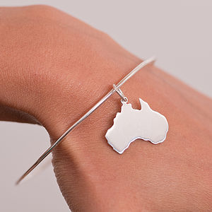 Sterling Silver Australia Bangle - frequent travellers