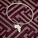 Handmade Sterling Silver Africa Bangle