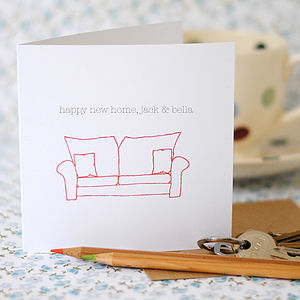 Personalised 'Happy New Home' Card