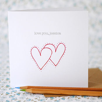 Personalised 'Love You' Card