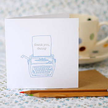 'Thank You' Typewriter Card