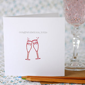 Personalised 'Congratulations' Card