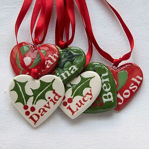 Personalised Small Christmas Heart - view all decorations