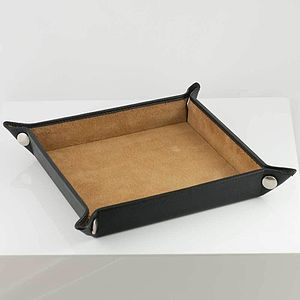 Leather Valet Tray - stationery & desk accessories