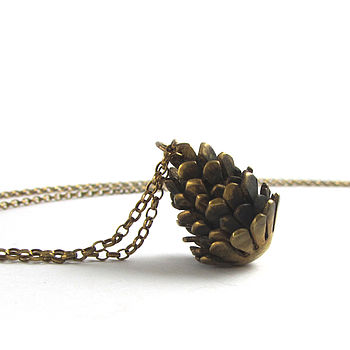 Lizzy Gold Pine Cone Necklace