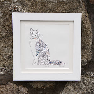 Dust And Silk Cat Giclee Print - contemporary art
