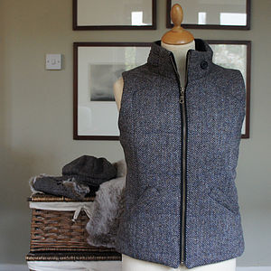 Harris Tweed Gilet - coats & jackets