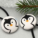 penguin fabric hairbands