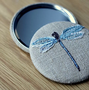 Handcrafted Handbag Dragonfly Mirror