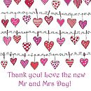 Mini Personalised Thank You Cards