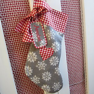 Christmas Stocking Snowflake Personalised