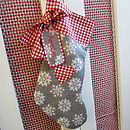 personalised stocking with heart