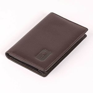 Leather Card Case In Cambridge Hide