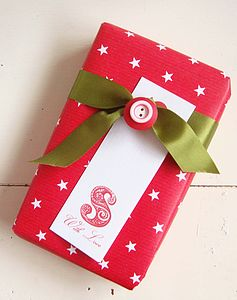 Vintage Style Letter Tag - christmas labels & tags