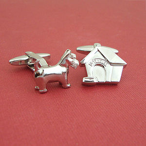 Dog And Dog House Cufflinks