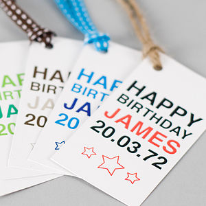 Personalised His Birthday Gift Tag - corporate gifts