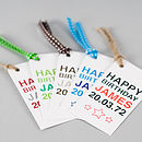 Personalised His Birthday Gift Tag