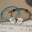 Personalised Plectrum Friendship Bracelet
