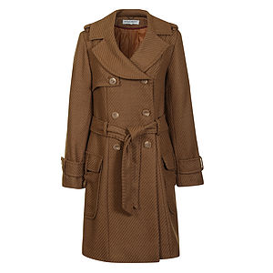 50% Off Davide Wool Blend Belted Coat - coats & jackets