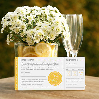 Louise Boarding Pass Wedding Invitation