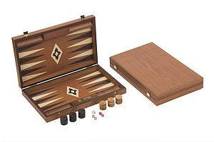 Mahogany Backgammon Set - baby & child