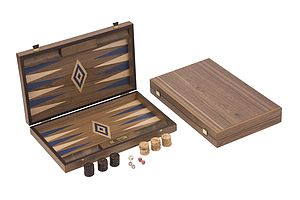 Uber Walnut Backgammon Set - for big kids
