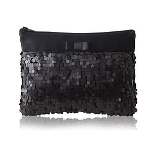 Angelique Matt Sequin Clutch - clutch bags