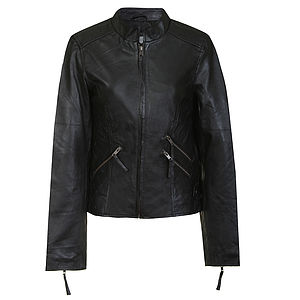 Julli Leather Bomber Jacket - jackets & coats