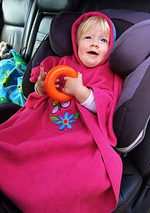 Hooded Poncho For Car Seats And Buggies - clothing
