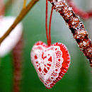 Lace Design Hanging Heart
