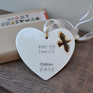 Personalised Christmas Family Decoration - christmas decorations