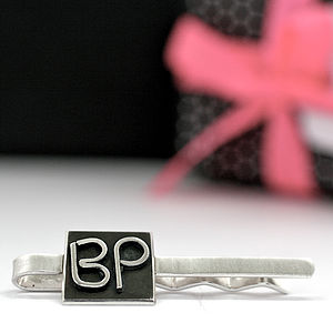 Personalised Silver Tie Slide Or Money Clip