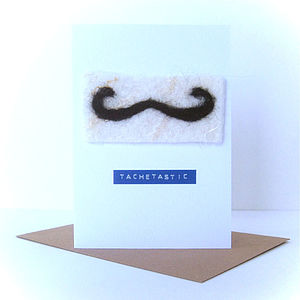 Handmade Moustache Greetings Card