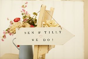 Personalised Arrow Sign - room decorations