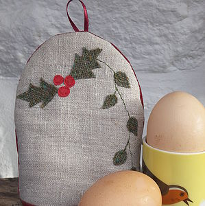 Holly And Ivy Egg Cosy - egg cups & cosies